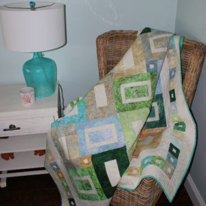 Beach Glass Lap Quilt 60x80""