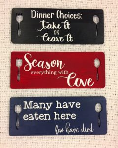 Painted Wooden Kitchen Signs
